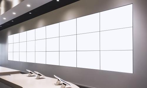 Blank Billboard lcd screen light box template display interior shop space